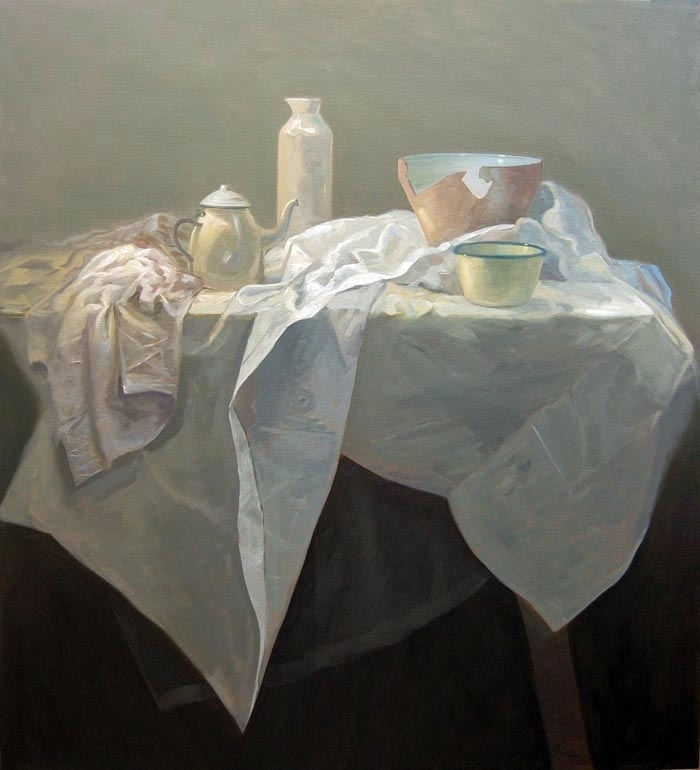 Petra Reece: Still LIfe with Broken Bowl 2011 image