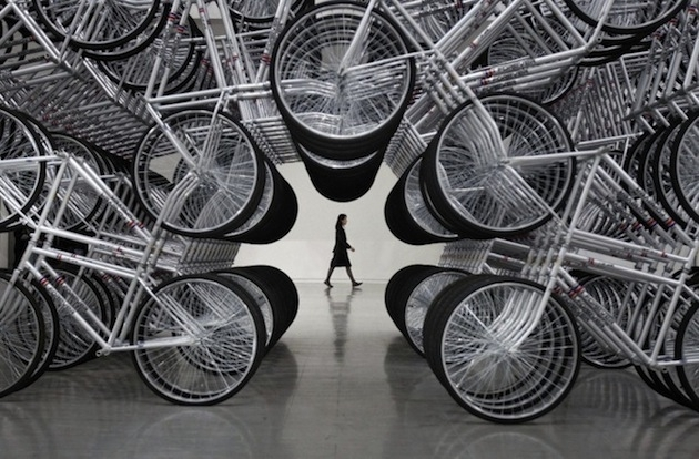Spiraling-Stack-of-Bikes-Creates-Forever-Bicycles-Installation-6 image
