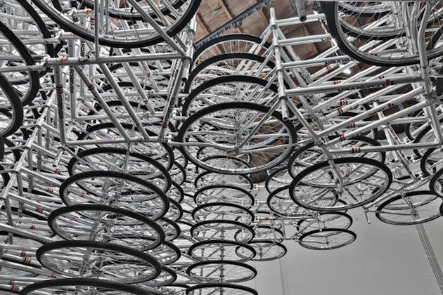 Spiraling-Stack-of-Bikes-Creates-Forever-Bicycles-Installation-9 image