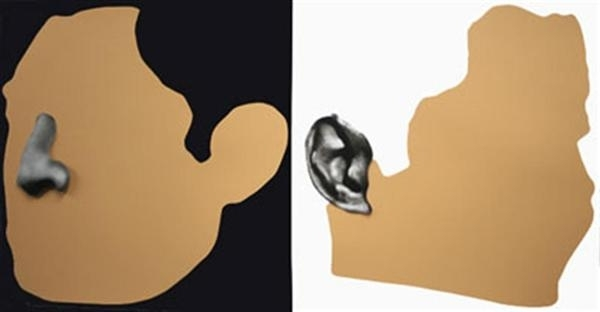 Nose and Ears etc: The Gemini Series: Two Profiles, One with Nose, One with Ear image