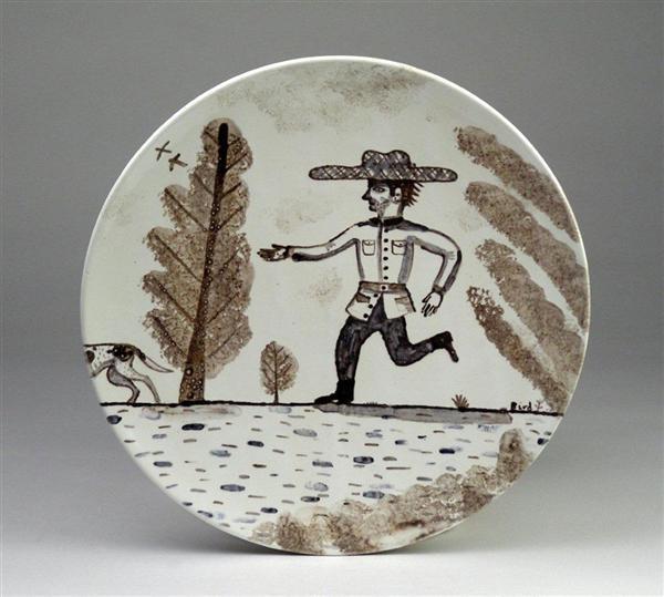 Man Running After Dog image