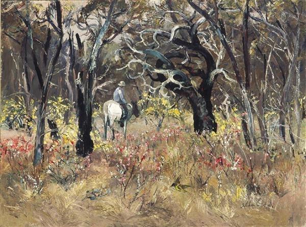 Rider and Wildflowers image