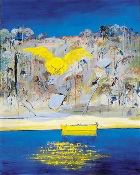 Shoalhaven Riverbank with Gold Winged image
