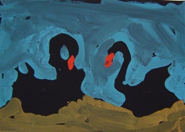 Swans Nesting image