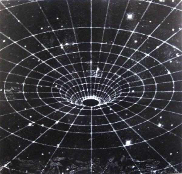 Black Hole (B+W) image