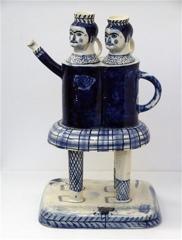 Double Figure Teapot image
