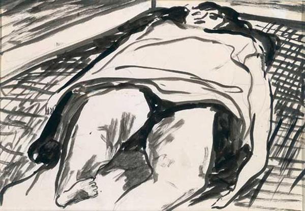 Woman Lying on a Rug image