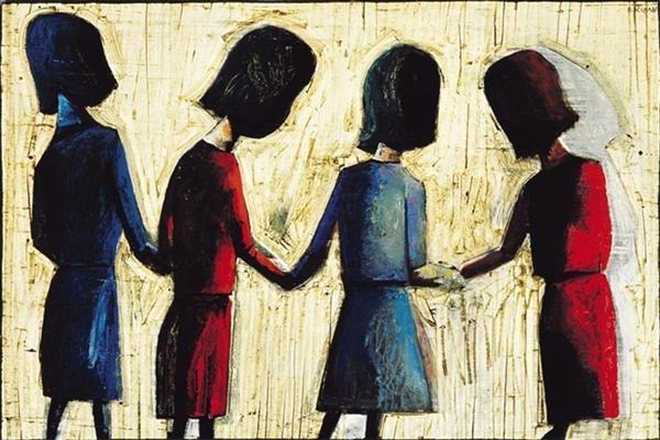 Four Schoolgirls image