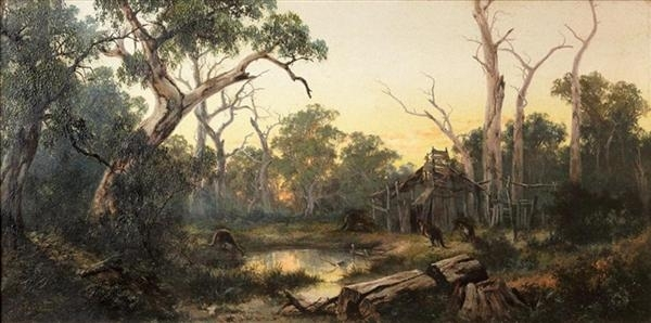 Abandoned Homestead and Kangaroos  image