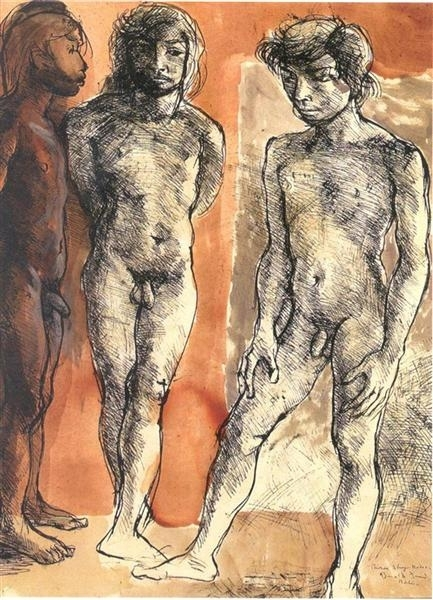 Three Shy Nudes image