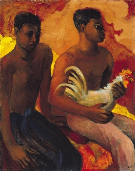 Boys with a Rooster image