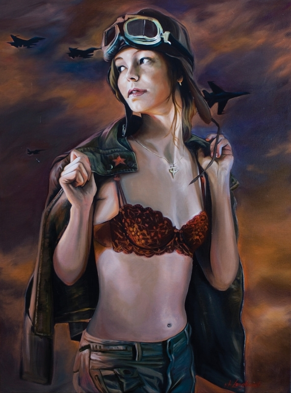 Kathrin Longhurst: Pilot Girl with Jacket image