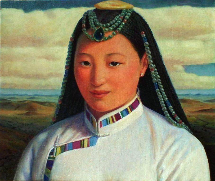 Xue Mo Title: Mongolian Girl III  image