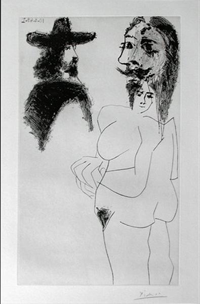 BEAU GENTILHOMME ESPAGNOL ET FEMME À BARBE (B. 1743) image