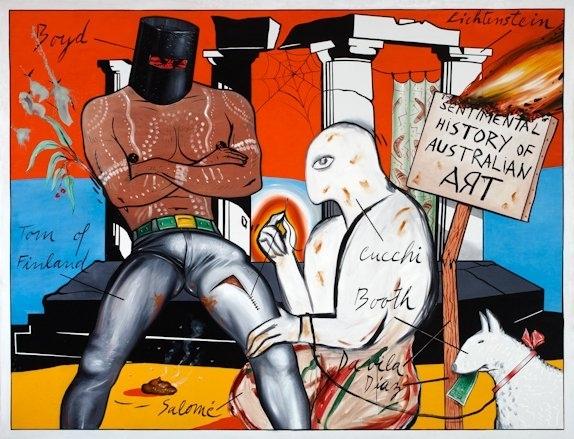 Juan Davila: Sentimental History Of Australian Art  image
