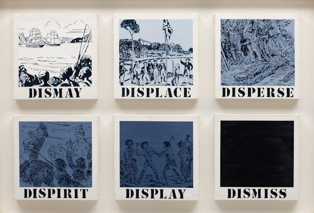 Gordon Bennett: Untitled (dismay, displace, disperse, dispirit, display, dismiss) image