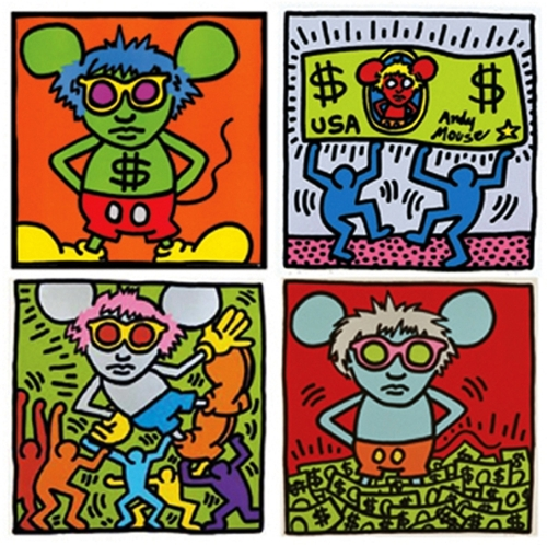 Keith Haring + Andy Warhol - Andy Mouse image
