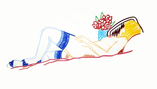 Tom Wesselmann - Nude with Bouquet and Stockings image