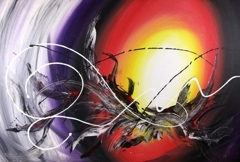 Creation abstract painting image