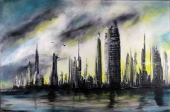 Steel City abstract painting image