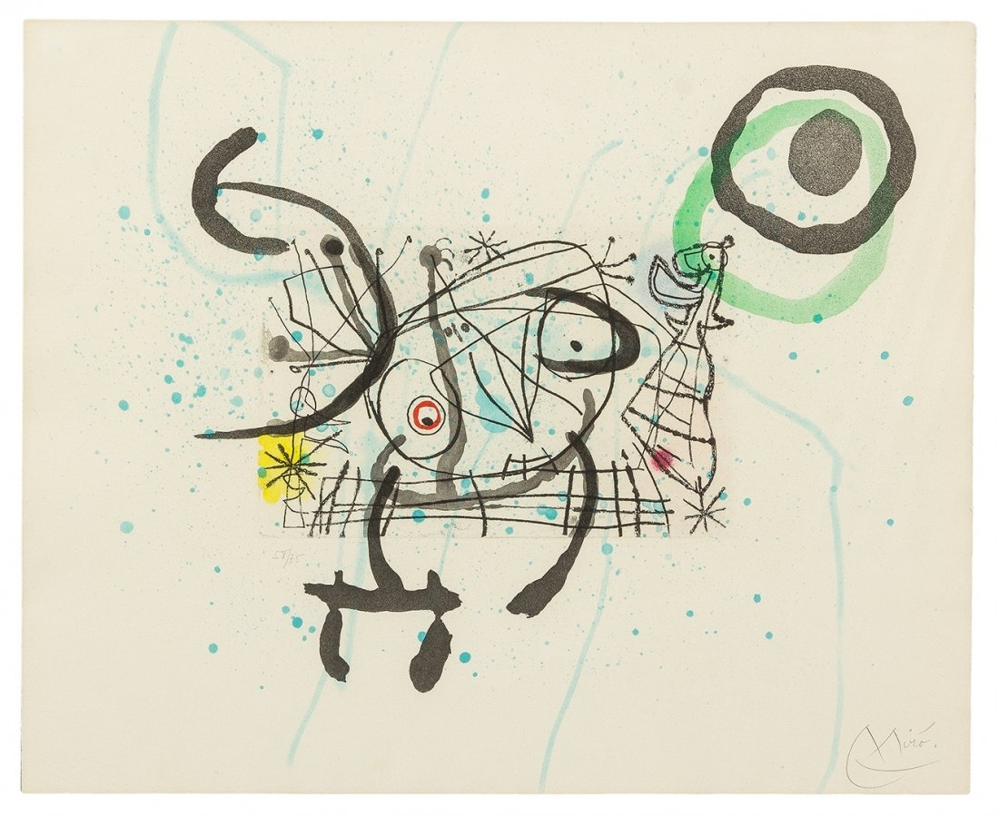 Joan Miro - Fissures Plate IX image