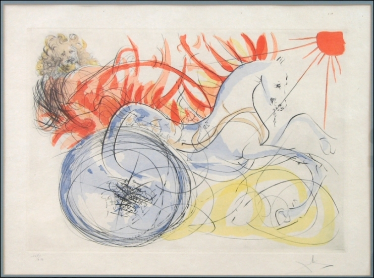 Salvador Dali Elijah and the Chariot image