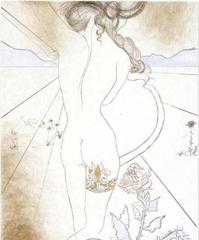 Salvador Dali  - Nu a la Jarretiere (Nude with Garter)  image