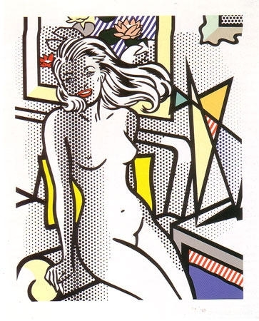 Roy Lichtenstein - Nude with Yellow Pillow image