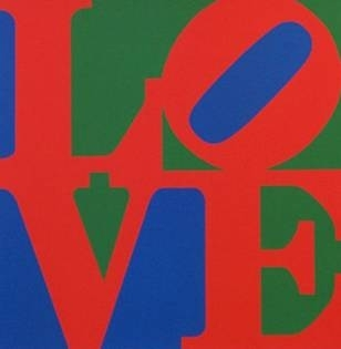 Robert Indiana - LOVE (Blue Red Green) image
