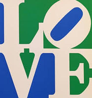 Robert Indiana - LOVE (White Green Blue) image