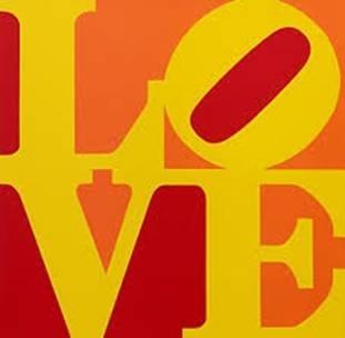 Robert Indiana - LOVE (Red Yellow Orange) image