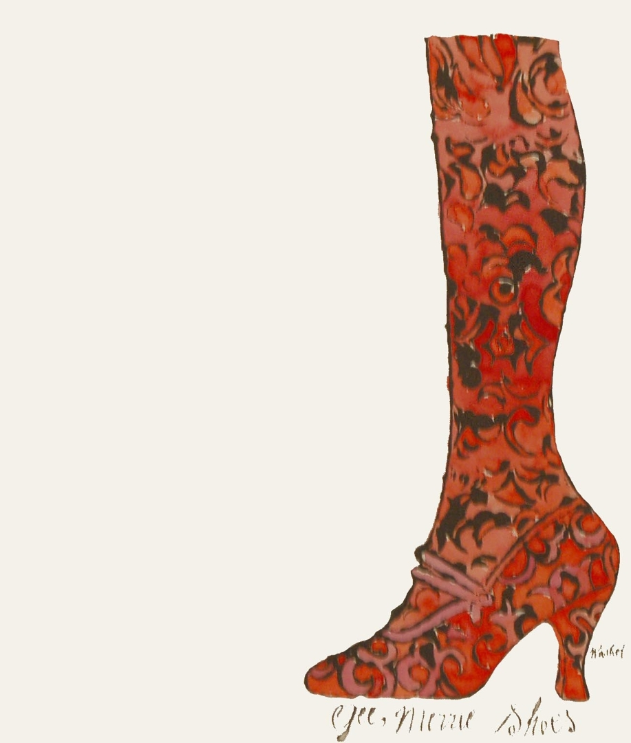 Andy Warhol - Gee, Merrie Shoes (Red) image