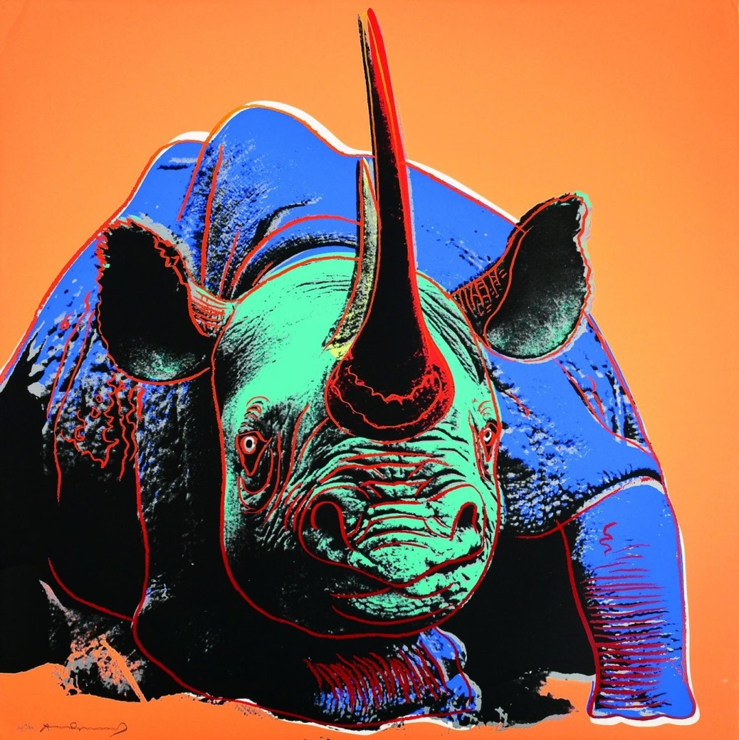 Andy Warhol - Black Rhinoceros (II.301) image