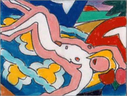 Tom Wesselmann - Study for sunset nude with floral blanket image