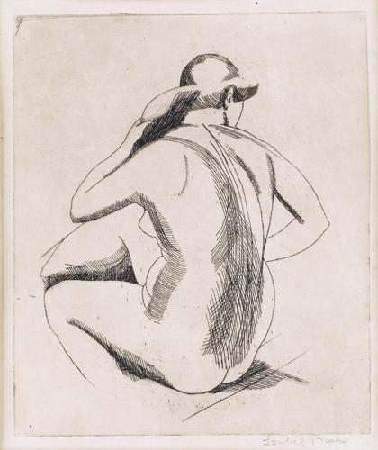 Isabel Bishop - Nude (backview) image