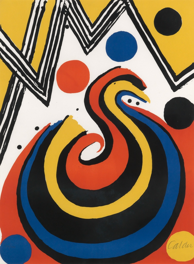Alexander Calder - Abstract Composition in Red, Yellow, Blue and Black image