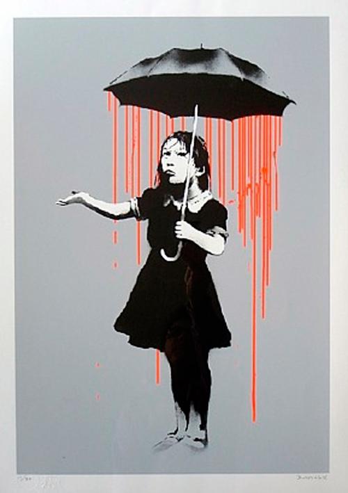 Banksy - Nola (Orange Rain) image