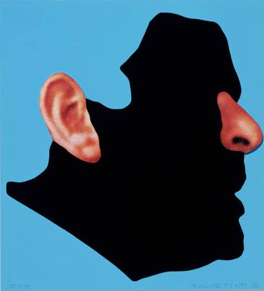 John Baldessari The Gemini Series: Profile With Ear And Nose    image