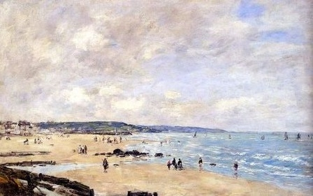 Beach at Trouville image