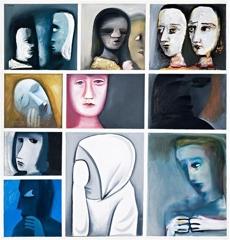 Charles Blackman Divided Painting  image