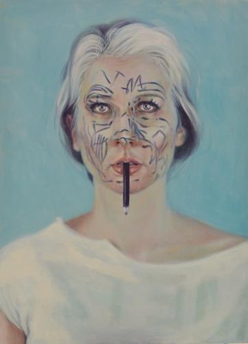 Self Portrait, Deconstructed Blue image