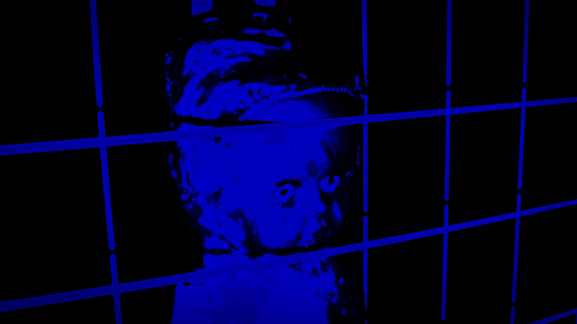doll in blue cage image