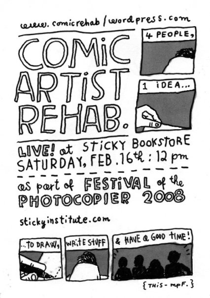 Comic Artist Rehab Flyer image