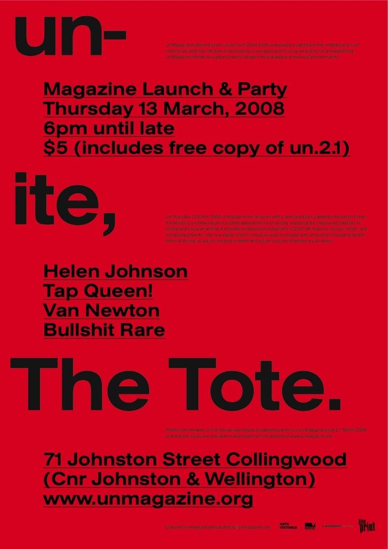 un Magazine launch flyer image
