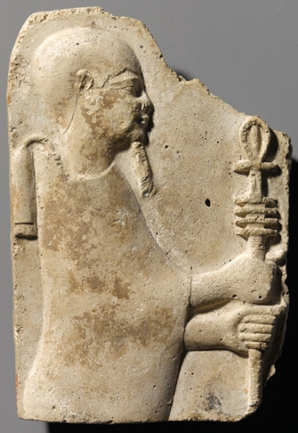 Relief of Ptah holding Ankh and Djed. image