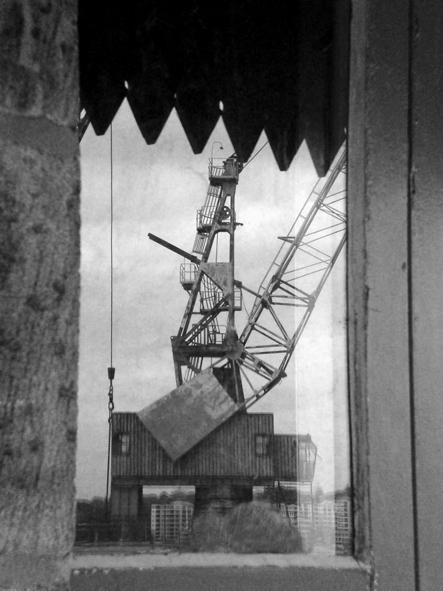 Reflections of crane - cockatoo Island image