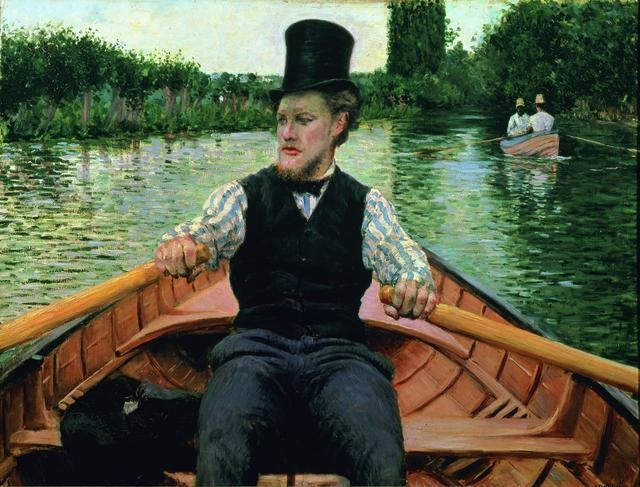 Oarsman In Top Hat image