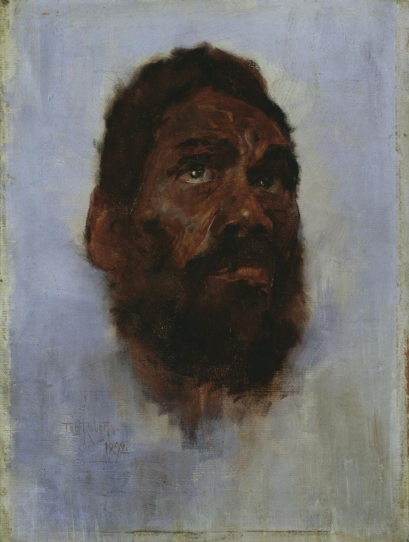 Aboriginal head - Charlie Turner 1892 image