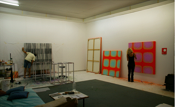 Helen Smith and Jeremy Kirwan-Ward in their studio image
