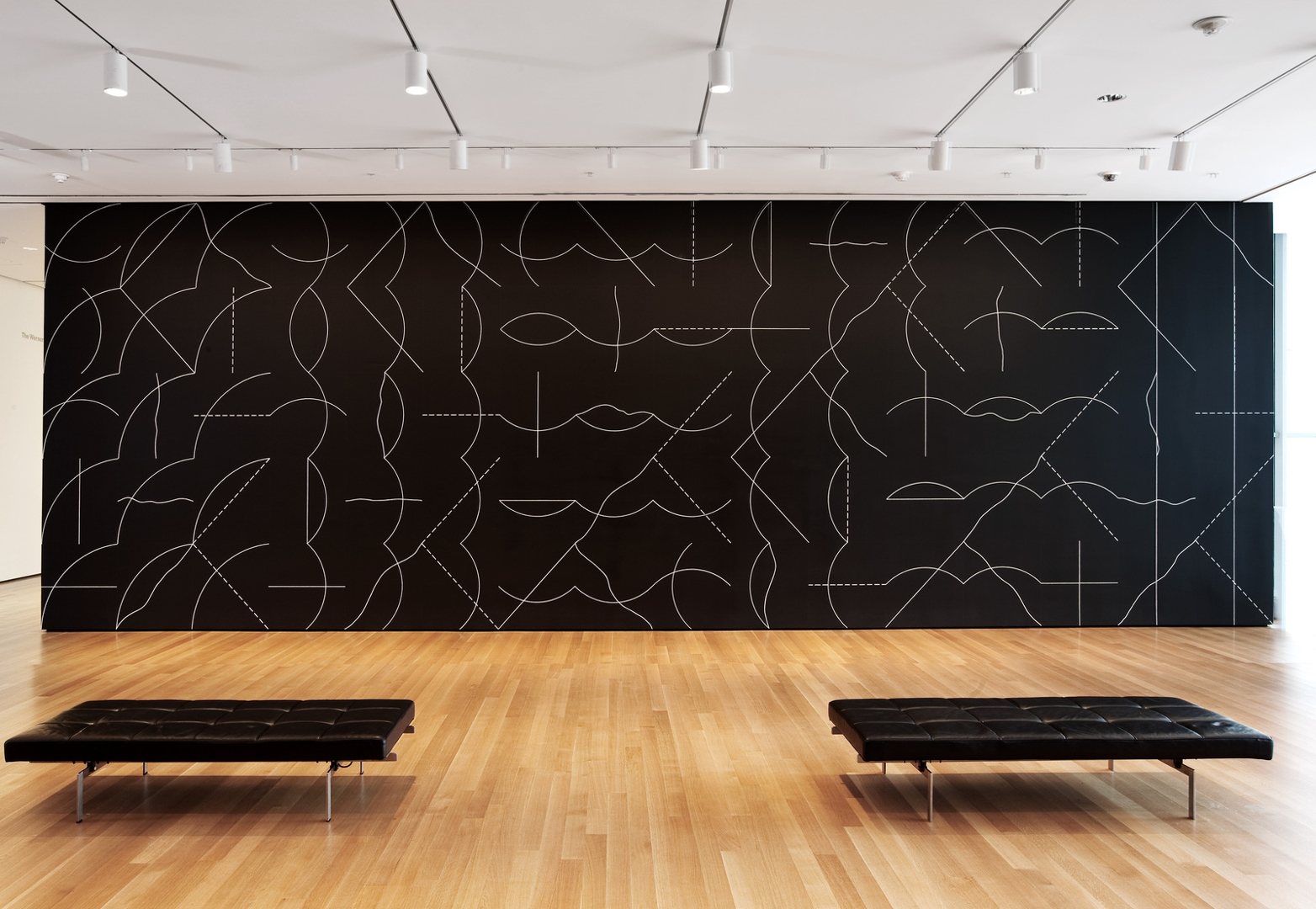 Installation view of Sol LeWitt's Wall Drawing #260 at The Museum of Modern Art, 2008. image
